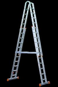 Art-Nr.: 121 Stehleiter höhenverstellbar, POESCHCO Profileitern