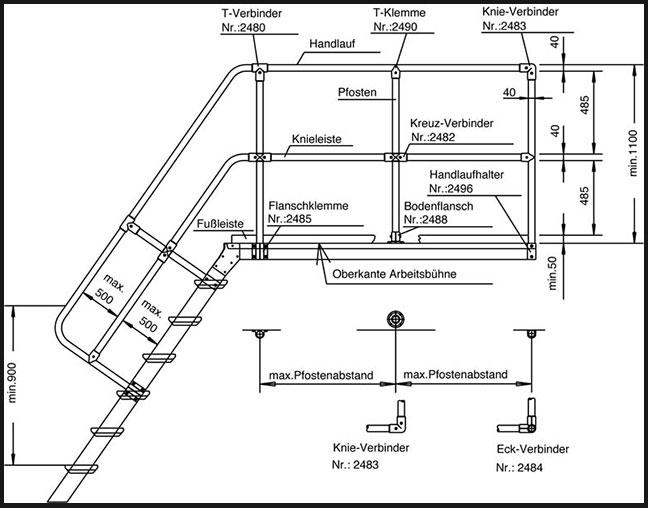 POESCHCO, Rohrverbinder-System-40-mm