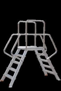 POESCHCO, Art-Nr.: 266 Podestübergang, POESCHCO, Anstiege, Treppen, Podeste, Leitern, Profileitern
