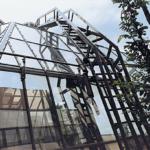 Fassadenreinigungsleiter