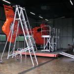 Heli-Buehne mit Leitersystem