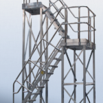 POESCHCO, Stationäre Anlagen, Sonderkonstruktionen, Podesttreppenanlage