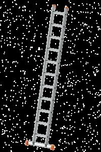 Anlegeleiter mit Flachsprossen,POESCHCO, Anlegeleiter, Profi-Leiter, Leitern, Ortsfeste Leiteranlage, Tankwagenleiter, Steigleiter, Anstieg, Treppe
