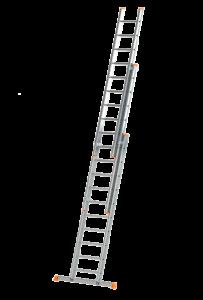 Schiebe-Aufsteckleiter, 3-teilig mit Traverse, Poeschco, Anlegeleiter, Poeschco-Construction, Kombileiter, Poeschco