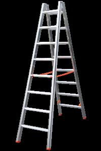 SPROSSENSTEHLEITER, POESCHCO Profileitern, Plakatleiter, 2-teilig, Glasreinigerleiter TRBS 2121-2, POESCHCO, Poeschco-Leitern, Arebitsbühne, Wartungsbühne, Anlegeleiter, Stehleiter