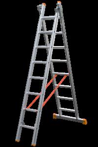 Mehrzweckleiter 2-teilig,Schiebeleiter mit Seilzug, Plakatleiter, Schiebe-Aufsteckleiter 2-teilig, POESCHCO-Leitern, Glasreinigerleiter TRBS 2121-2, POESCHCO, Leitern, Profileitern, Rollpodest, Anstieg, Arbeitsbühne, Enteisungsbühne