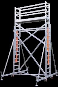 Rollgerüst, Fahrgerüst, Arbeitsbühnen, Wartungsbühnen, Poeschco-Leitern, Profi-Leitern, Stehleiter, Anstiege, Treppen, Podeste