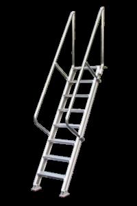 Treppen, Podeste, Rollpodest, Arbeitsbühne, Poeschco-Leitern, Anstiege, Profileitern , Montagetritte, POESCHCO-Construction