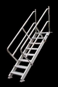 Treppen System 230, Podeste, Rollpodest, Arbeitsbühne, Poeschco-Leitern, Anstiege, Profileitern , Montagetritte, POESCHCO-Construction