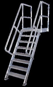 Podesttreppen, Treppen System 230, Podeste, Rollpodest, Arbeitsbühne, Poeschco-Leitern, Anstiege, Profileitern , Montagetritte, POESCHCO-Construction