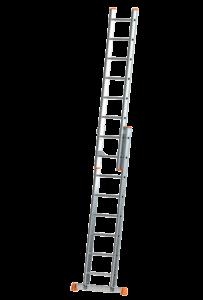Schiebe-Aufsteckleiter 2-teilig, POESCHCO-Leitern, Glasreinigerleiter TRBS 2121-2, POESCHCO, Leitern, Profileitern, Podeste, Anstieg, Arbeitsbühne, Enteisungsbühne
