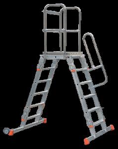 peed-Fix Podestleiter, Podeste, Treppen, Mobile Treppen, POESCHCO, Tools for Professionals, Rollpodest, Fahrgerüste, Profi-Leitern