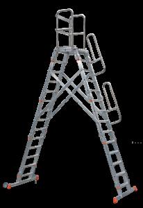 Speed-Fix Podestleiter, Podeste, Treppen, Rollbare Treppen, POESCHCO, Tools for Professionals, Rollpodest, Fahrgerüste, Profi-Leitern