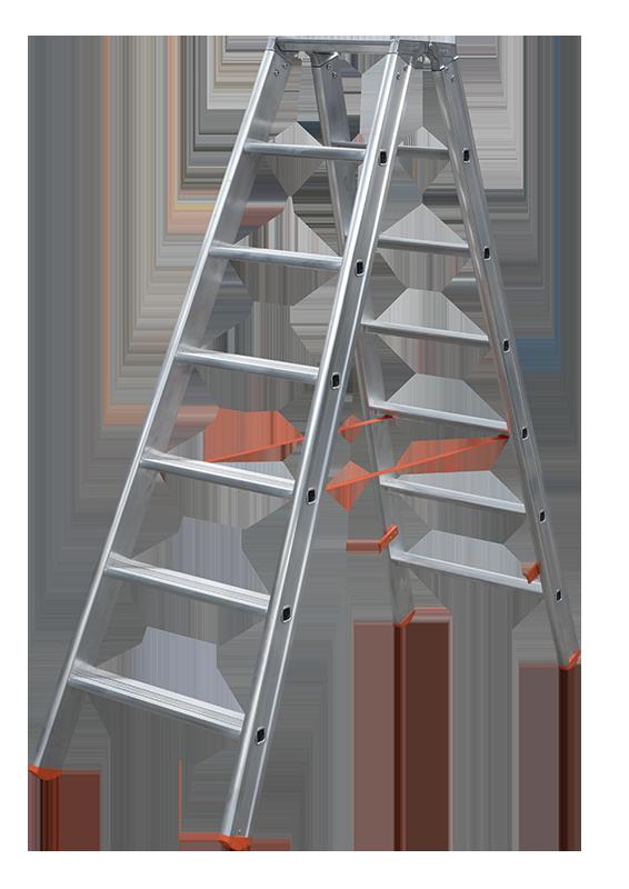 Poeschco Aluleiter Stehleiter Stufenstehleiter Poeschco Typ 315