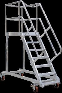 Wartungsbühnen rollbar, Speed-Fix Podestleiter, Podeste, Treppen, Stationare Treppen, POESCHCO, Tools for Professionals, Rollpodest, Fahrgerüste, Profi-Leitern