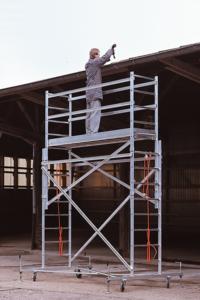 Fahrgerüst 254, Arbeitsbühnen, Wartungsbühnen, Poeschco-Leitern, Profi-Leitern, Stehleiter, Anstiege, Treppen, Podeste